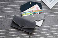 Стильный женский кошелек клатч черного цвета, Жіночий гаманець, фото 4