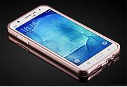 Чехол для Galaxy J7 2015 / Samsung J700 зеркальный розовый, фото 2