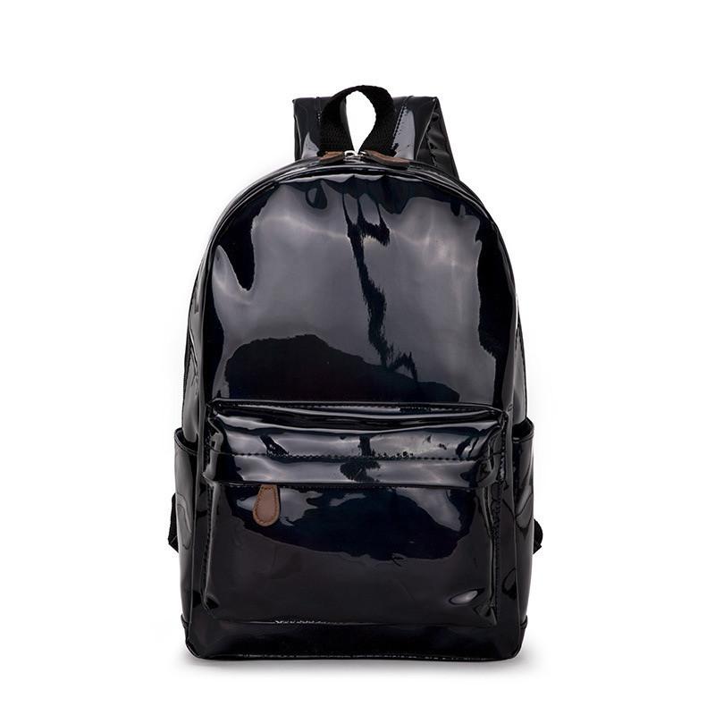 Женский большой голографический блестящий рюкзак SUNSHINE школьный портфель черный
