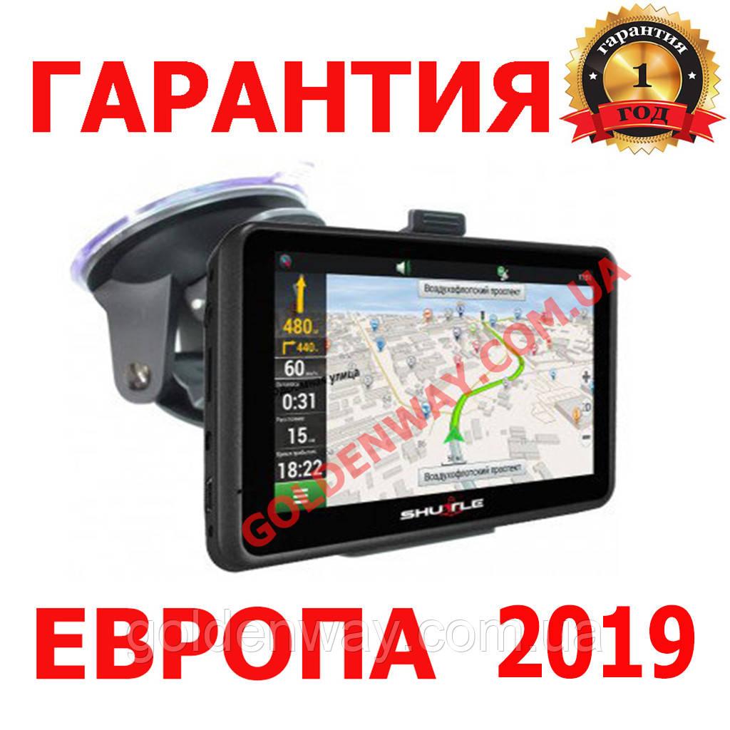 Автомобильный GPS навигатор Shuttle PNA-5028  экран 5 дюймов 8Гб и 256 ОЗУ, с картами Европы 2019 Igo Primo
