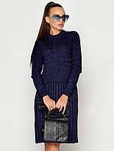 Женское теплое вязаное платье (ПЛ02jd), фото 3