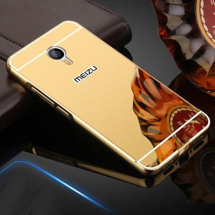 Чехол для Meizu M3 Note зеркальный золотистый, бампер, накладка, чохол