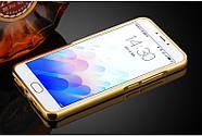 Чехол для Meizu M3 Note зеркальный золотистый, бампер, накладка, чохол, фото 2