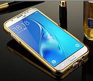 Чехол для Galaxy J7 2016 / Samsung J710 зеркальный золотистый, фото 2