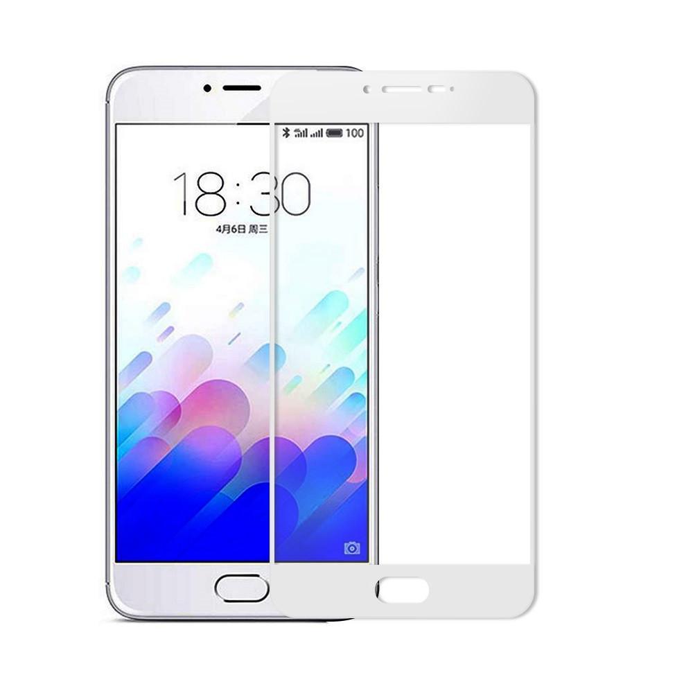 Защитное стекло Meizu M3 Note full cover white