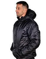 Куртка рабочая на зиму USES Оксфорд плащевка ВО размер 60-62, рост 170-176 черный