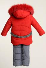 Детский зимний комбинезон для девочки Лола с рюкзачком | размеры  86-110, фото 3