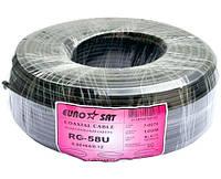 Кабель коаксиальный RG-58U (50 Ом) Eurosat (медь) чёрный (7-0074B)