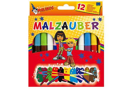 Волшебные фломастеры меняющие цвет MALINOS Malzauber 12 (10+2) шт, фото 2