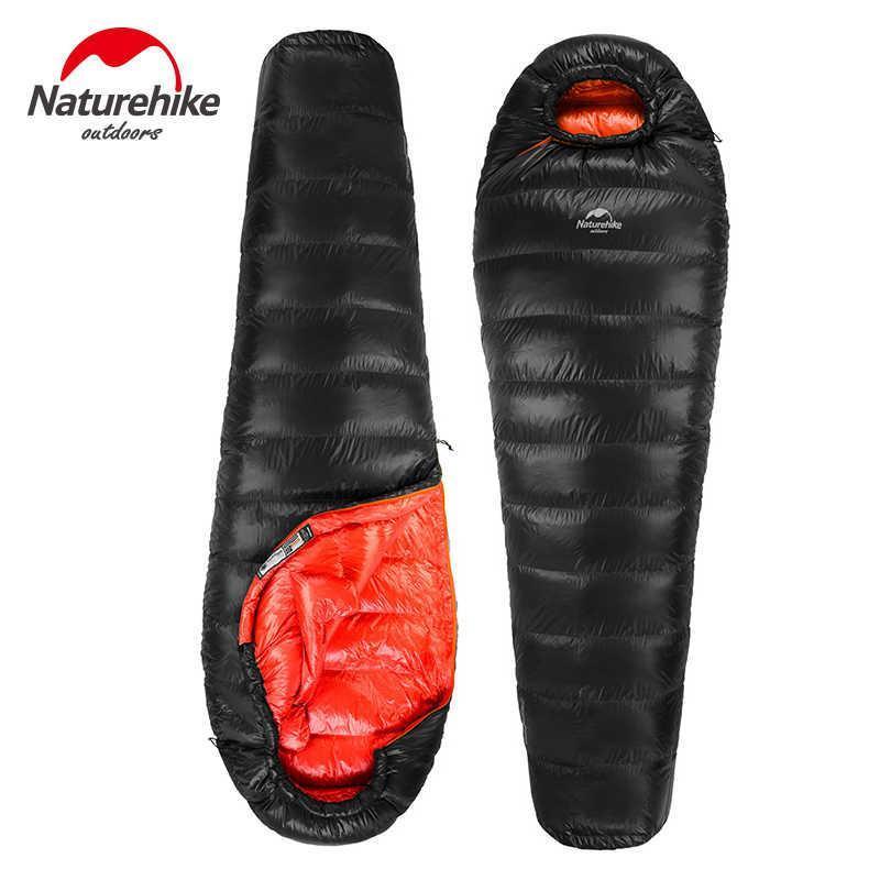 Спальный мешок пуховый Naturehike Down DK1000L. -12°C  -18°C. (зимний) Пуховий спальний мішок кокон.