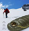 Спальный мешок пуховый Naturehike Down DK1000L. -12°C  -18°C. (зимний) Пуховий спальний мішок кокон., фото 9