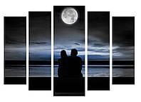 Модульная картина Декор Карпаты 120х80 см Пара под луной (M5-455-1)