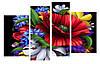 Модульная картина Декор Карпаты 110х70 см Цветы (M4-mak-lepestki)
