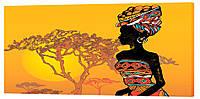 Картина на холсте Декор Карпаты Люди 50х100 см (la832)