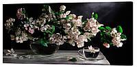 Картина на полотні Декор Карпати Квіти 50х100 см (c526)