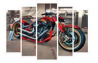 Модульная картина Декор Карпаты 120х80 см Мотоцикл (M5-m1)