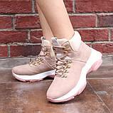 Демисезонные кроссовки ботинки красивого цвета пудры, фото 2