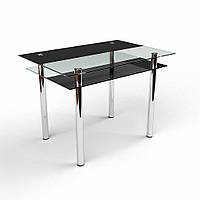 """Стол обеденный стеклянный """"Денвер"""" стол для гостинной или кухни"""