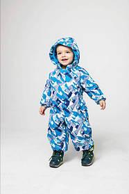 Термокомбінезон трансформер для хлопчиків Гори блакитний поліестер Baby Line Україна
