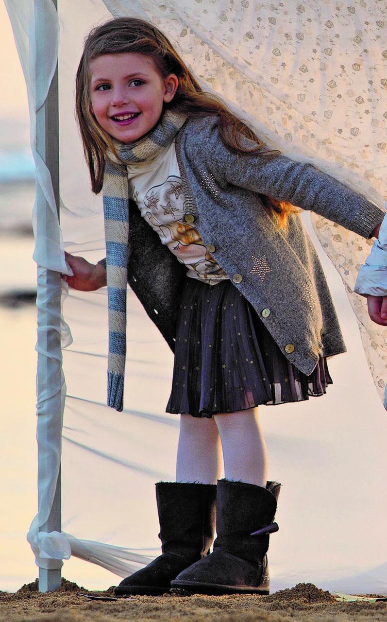 Детский шарф для девочки BRUMS Италия 143BGLB001 серый Бежевый весенняя осенняя демисезонная