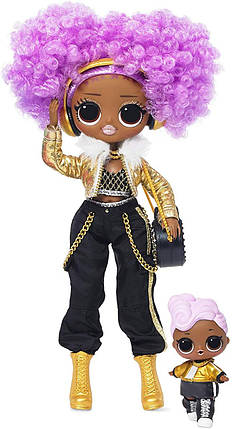 Кукла ЛОЛ ОМГ Зимняя дискотека Ди Джей L.O.L. Surprise! O.M.G. Winter Disco 24K D.J., фото 2