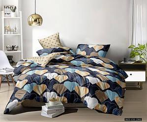 Двуспальный комплект постельного белья «Веселые сердечки» 177х217 из сатина, однокомпонентный(50х70)