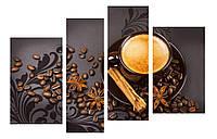 Модульная картина Декор Карпаты 110х70 см Кофе (M4-221)