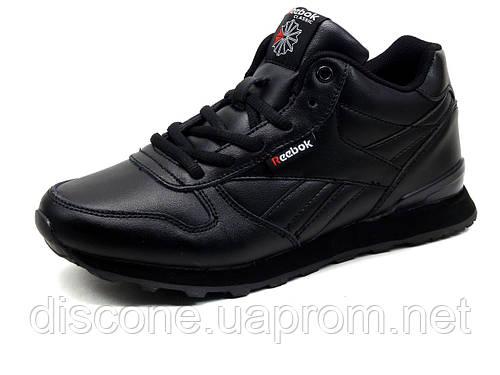 Кроссовки Reebok classic унисекс, , высокие, черные