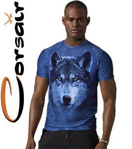 4D отличные футболки Corsair 200 (лазурь)