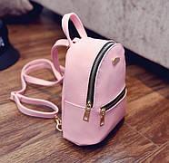 Женский городской рюкзак розового цвета, фото 2