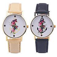 Женские часы с черным ремешком, фото 2