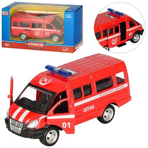 Игрушка машина пожарная 6404 E открываются двери резиновые колеса