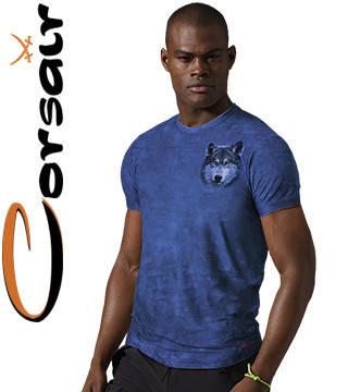 4D хорошие футболки Corsair 210 (лазурь), фото 2