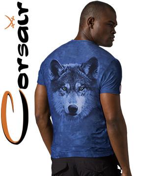 4D хорошие футболки Corsair 210 (лазурь)