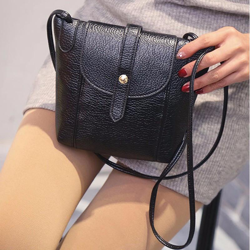 Женская сумочка через плечо черного цвета