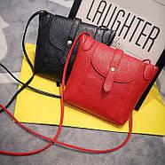 Женская сумочка через плечо черного цвета, фото 2