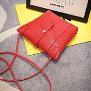 Женская сумочка через плечо красного цвета, фото 2