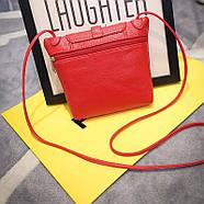 Женская сумочка через плечо красного цвета, фото 3