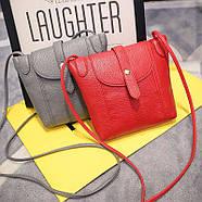 Женская сумочка через плечо красного цвета, фото 4