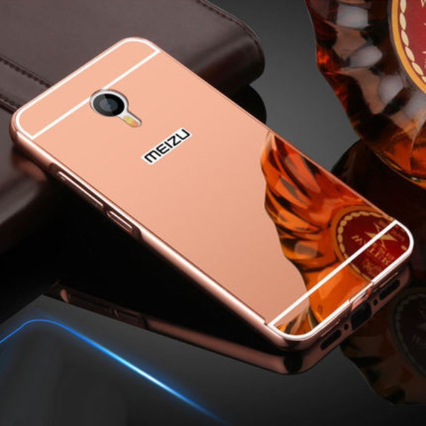Чехол для Meizu M3 Note зеркальный розовый, бампер, накладка, чохол