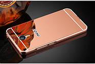 Чехол для Meizu M3 Note зеркальный розовый, бампер, накладка, чохол, фото 2
