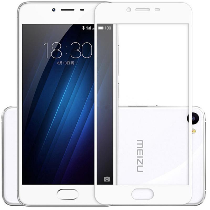 Защитное стекло Meizu U10 full cover white