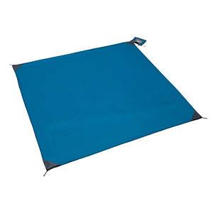 Коврик подстилка сверхлегкий для пикника компактный с карманами для утяжелителей 150150 см Monkey Mat синий 149970