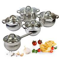 Набор посуды из 10 предметов из нержавеющей стали Benson BN-211 151135