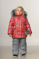 Детский зимний комбинезон для девочки «Love Paris» | размеры  92-110, фото 3