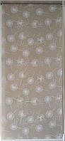Готовые рулонные шторы 350*1500 Ткань Одуванчики Орех 5428/2