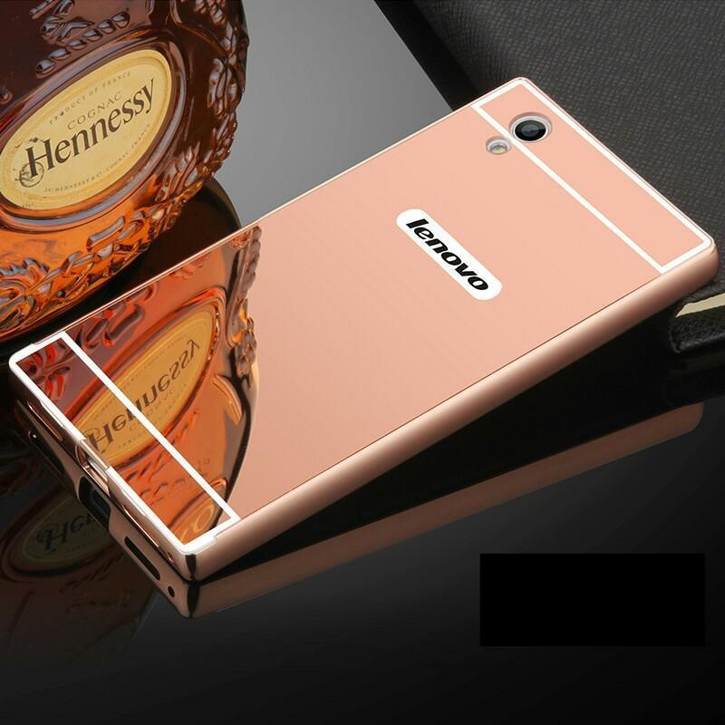 Чехол для Lenovo P70 зеркальный розовый