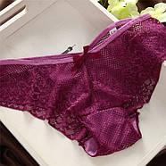 Комплект нижнего белья 75B (34B) red-violet, push up, набор женского белья с пуш ап, фото 5