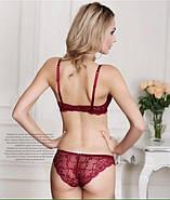 Комплект нижнего белья 80B (36B) red, push up, набор женского белья с пуш ап, фото 3