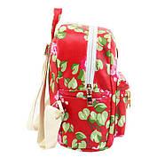 Женский городской рюкзак красный, фото 2